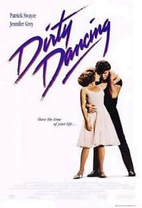Dirty Dancing Movie Poster depicts a man and a woman dancing