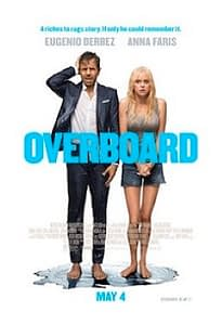 Movie poster of Overboard depicting a man and unhappy woman.